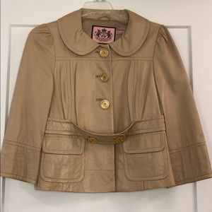 Juicy Couture Real Leather jacket sz XS